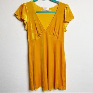 Urban Outfitters Mustard Yellow Short Sleeve Dress